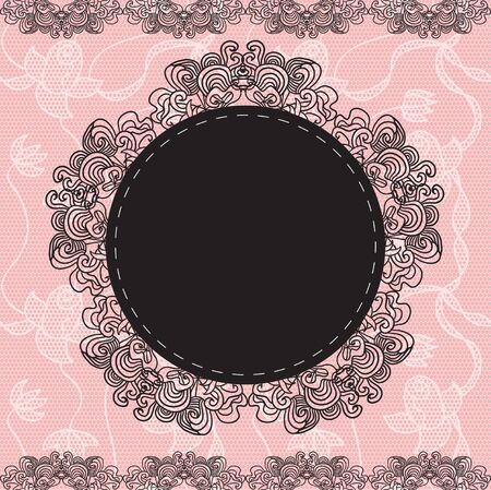 Elegant doily on lace gentle background for scrapbooks Illustration