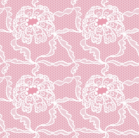 sem costura: Ate padrão sem emenda com flores em fundo rosa