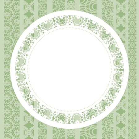 doily: Elegant doily on lace background for scrapbooks