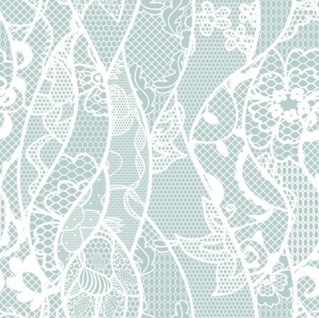 trabajo manual: Encaje Patrón sin fisuras con flores sobre fondo azul