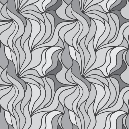 sheepskin: Seamless abstract hand-drawn pattern, waves hair background