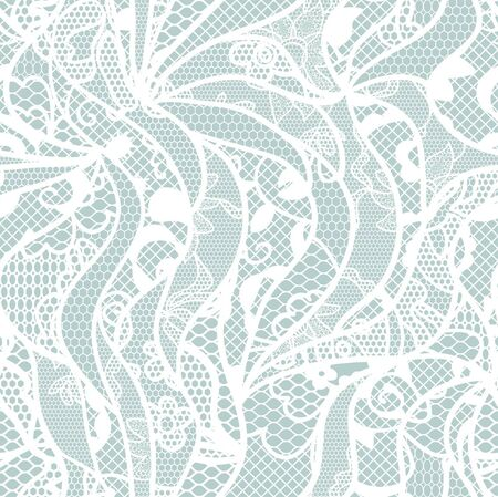 ladylike: Lace seamless pattern with flowers on blue background