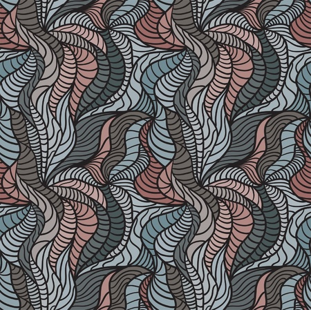 Seamless abstract hand-drawn pattern, hair background Vector