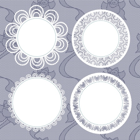 doilies: Vector illustration. Background for scrapbook.