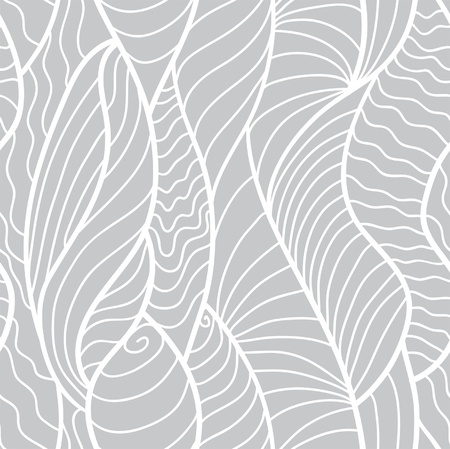 pattern: Hand drawn seamless pattern with various elements, lines, waves