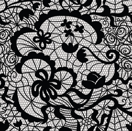 vector fabric: Lace vector fabric seamless pattern