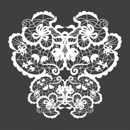 Lace vector decorative ornament. Vector