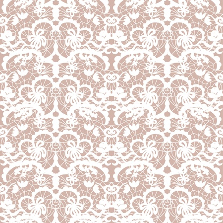 vector fabric: Lace vector fabric seamless  pattern with roses Illustration