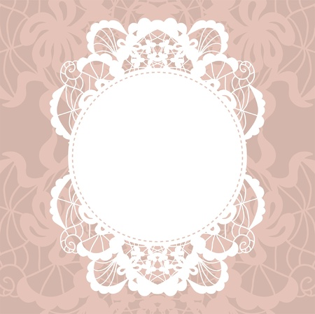 doilies: Doily elegante en el fondo de encaje suave para �lbumes de recortes