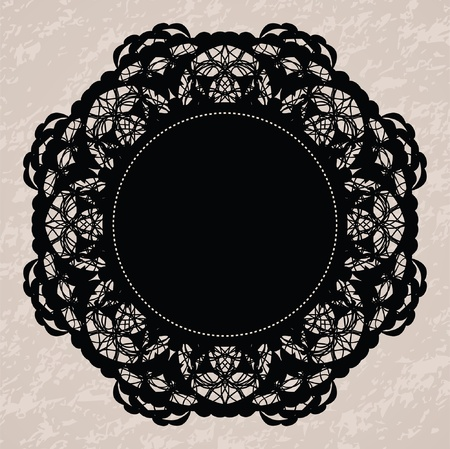 Elegant lacy doily for scrapbooks Vector