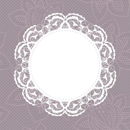 ribetes: Doily elegante en el fondo de encaje suave para �lbumes de recortes