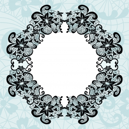 Elegant doily on lace gentle background for scrapbooks Stock Vector - 18865570