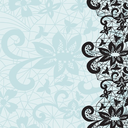 lacy: Vertical seamless background with a floral lace ornament