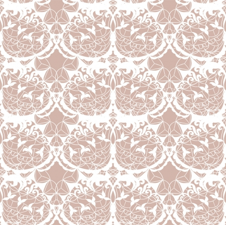 vector fabric: Lace vector fabric seamless  pattern with leafs Illustration