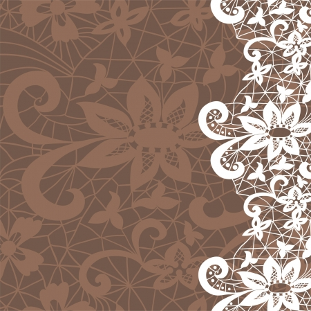 lace fabric: Vertical seamless background with a floral lace ornament