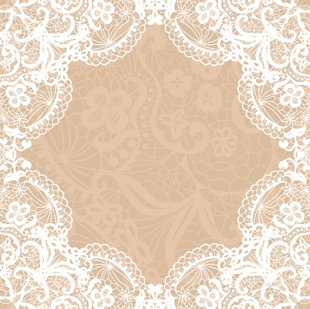 Vector black lace on texture, template