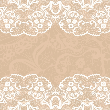 Horizontal seamless background with a floral ornament Illustration