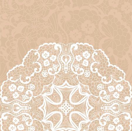 diameter: Vector template. Lacy background. Illustration