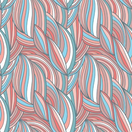 Abstract hand-drawn vector pattern, waves hair background Stock Vector - 19731748