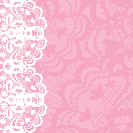 retro lace: Vertical seamless background with a floral lace ornament