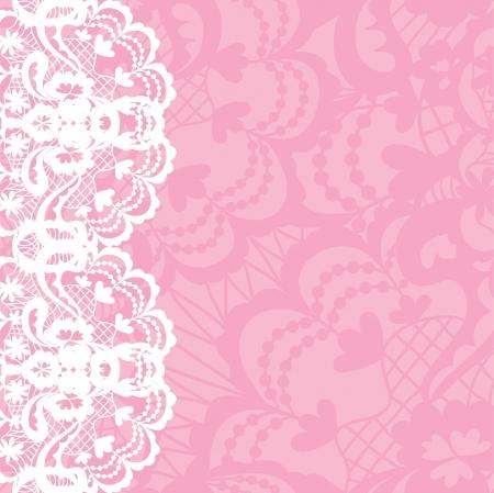 ročník: Vertikální bezešvé pozadí s květinovým krajkovým ornamentem Ilustrace