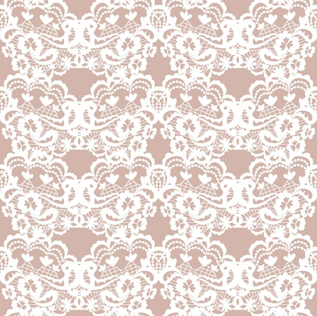 Lace fabric seamless  pattern with flowers Stock Vector - 21013303