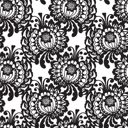 Lace fabric seamless  pattern with flowers Stock Vector - 21059223