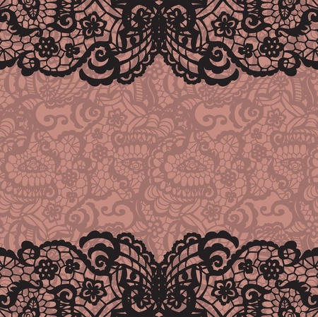 black stockings: Horizontal seamless background with a floral ornament Illustration