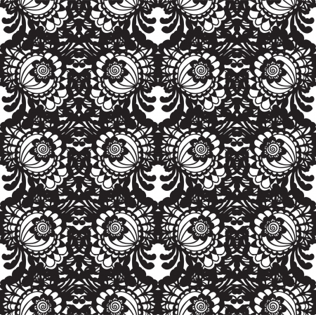 vector fabric: Lace vector fabric seamless  pattern with flowers