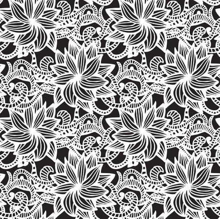 Hand-drawn seamless pattern may be used as background Stock Vector - 21185458