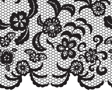 Seamless lace border. Vector illusration. Vector