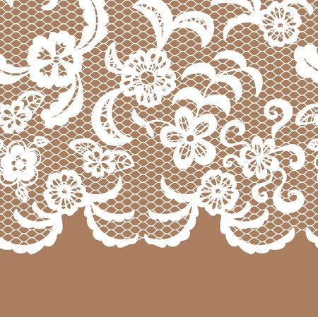 Seamless lace border. Vector illusration.