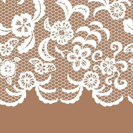 handwork: Seamless lace border. Vector illusration.