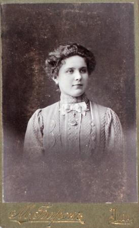 LIDA, RUSSIAN EMPIRE - CIRCA 1910  Vintage photo of young woman