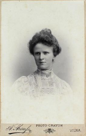 VILNIUS, RUSSIAN EMPIRE - CIRCA 1910  Vintage photo of adult woman