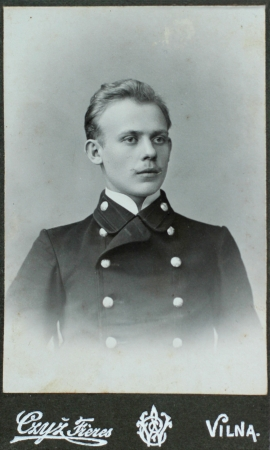 portraiture: VILNIUS, RUSSIAN EMPIRE - CIRCA 1910  vintage photo of young elegant man
