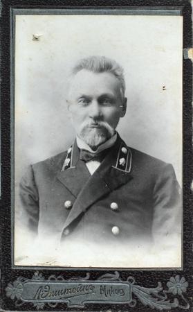 19th: MINSK, RUSSIAN EMPIRE - CIRCA 1910  vintage photo of elegant man Editorial