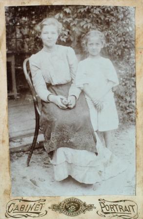 old photo: Nostalgic picture. Circa1915. Russian Empire, beginning of 20th century.