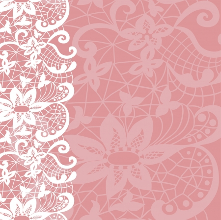 Vertical seamless background with a floral lace ornament Vector