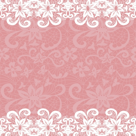 Horizontal seamless background with a floral ornament Vector
