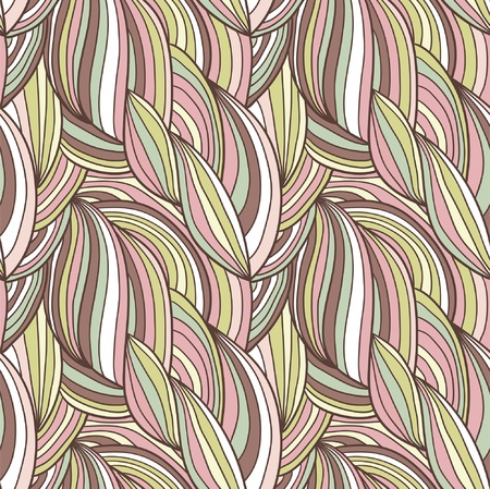 clots: Abstract hand-drawn vector pattern, waves hair background
