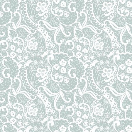 pattern seamless: Lace seamless pattern with flowers on blue background