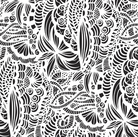 Hand-drawn seamless pattern may be used as background Stock Vector - 21604632