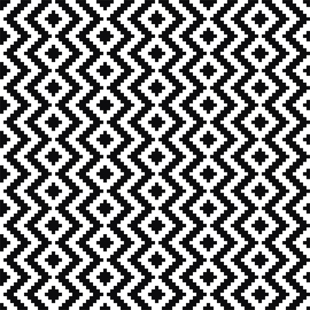 Black and white pattern. Vector ornament. Stock Vector - 22620323