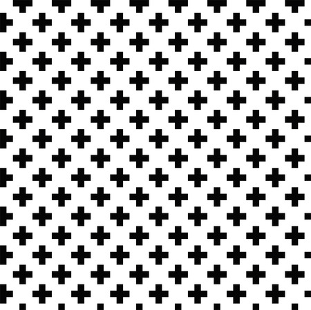repeat square: Black and white pattern. Vector ornament.