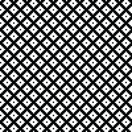small group of object: Black and white pattern. Vector ornament. Belorussian traditional ornament. Illustration