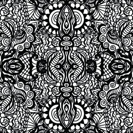Hand drawn seamless pattern, seamless vector pattern Vector