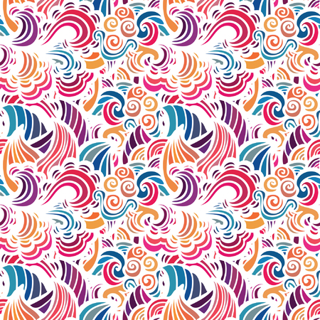 damask background: Mosaic abstract vector seamless  pattern
