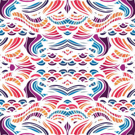Mosaic vector seamless pattern with waves Vector