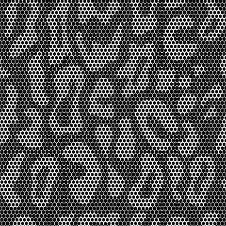 Lace seamless leopard pattern  Vector mesh